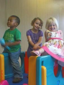 Rainbow toddlers