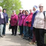 Chilly spring weather enjoyed by Women On Walks at Marlow.