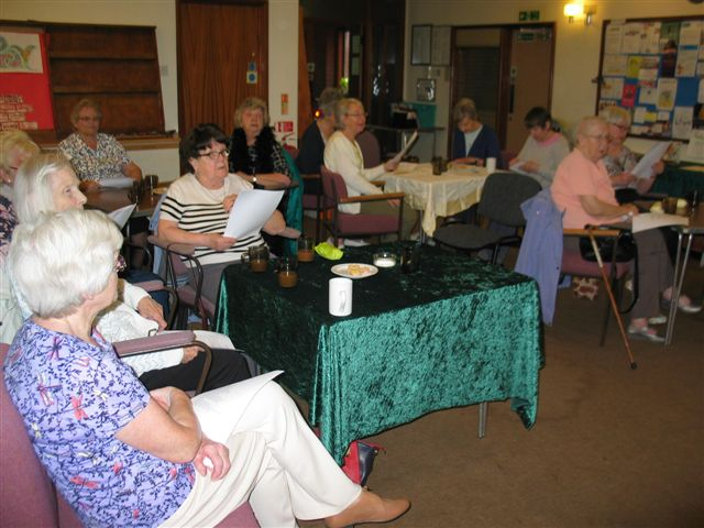 Rendezvous members at the Musical Morning at St. James Church Woodley  Berkshire 220616